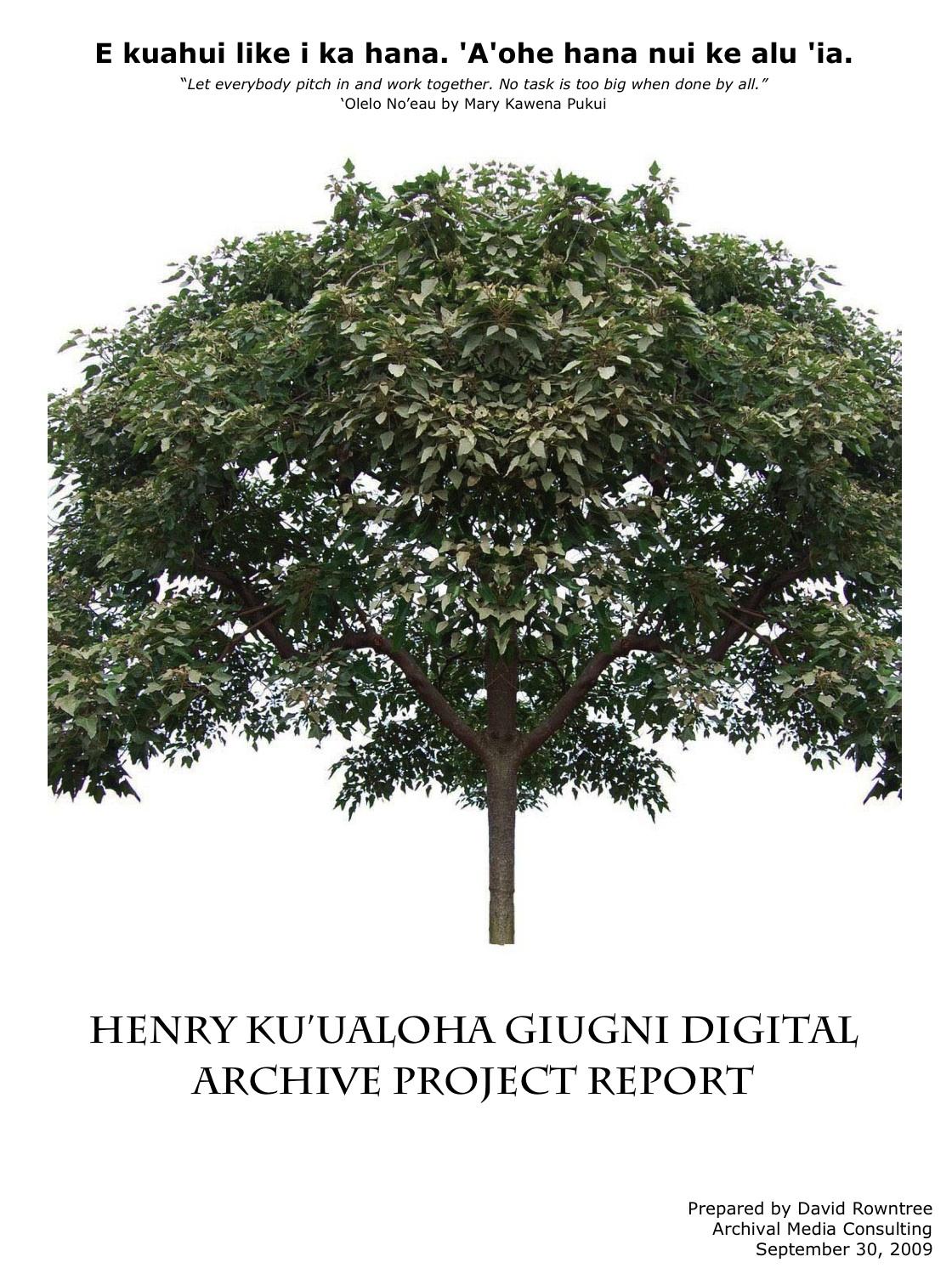consultant s report ulu ulu the henry ku ualoha giugni consultant final report 12 8 2009