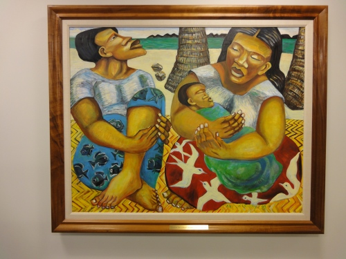 "Original painting by Avi Kiriaty entitled ""ohana""."