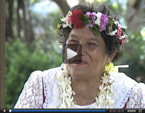 Nona Beamer, Hawaiian composer, kumu hula, storyteller, educator and authority on Hawaiian culture
