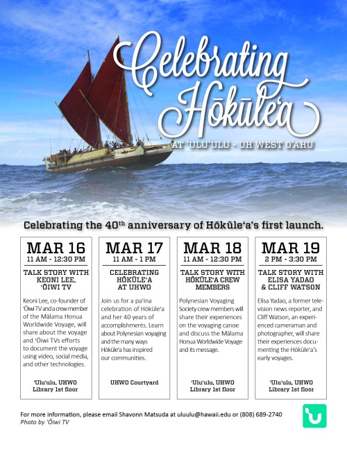 Celebrating Hōkūleʻa Event Flier