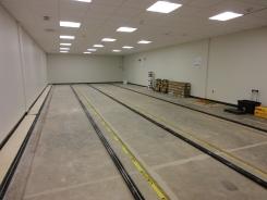 Vault before shelving installation
