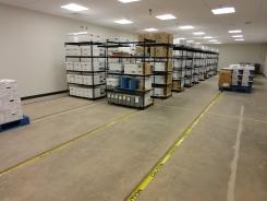 Vault w/ temporary shelving