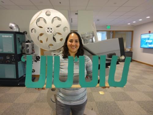Roselani Media Preservation Intern April Rodriguez